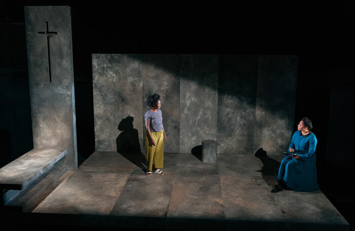 Shvorne Marks and Amanda Wright in Meek at Traverse Theatre, Edinburgh. Photo: Helen Murray