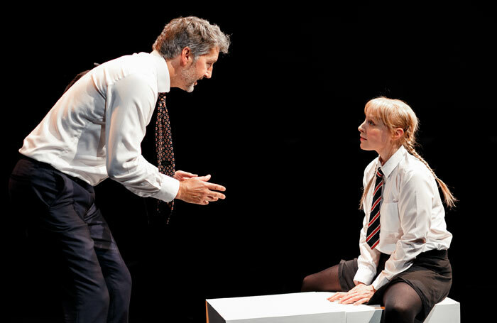 Adam Morris and Abigail Hood in Spiral at Park Theatre, London. Photo: Benkin Photography