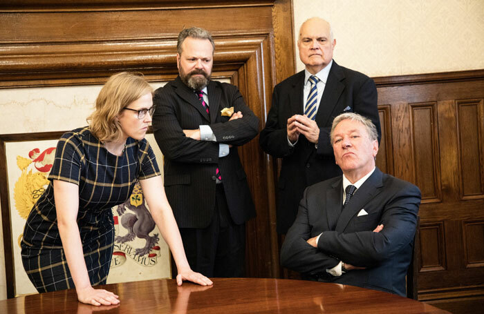 The cast of Brexit, on at Pleasance Courtyard, Edinburgh