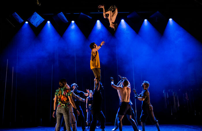 Scene from Backbone, by Gravity and Other Myths, at London's Southbank Centre. Photo: Carnival Cinema
