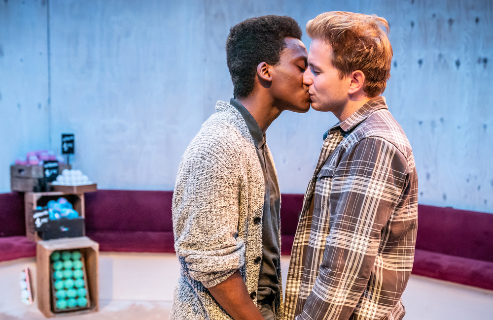 Tyrone Huntley and Harry McEntire in Homos, Or Everyone in America. Photo: Marc Brenner