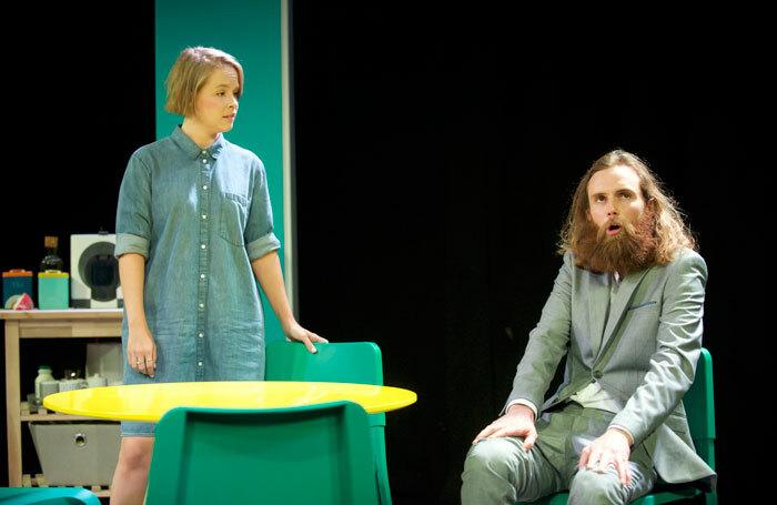 Jessica Clark and Rob Auton in Frank Skinner's Nina's Got News. Photo: Rob McDougall
