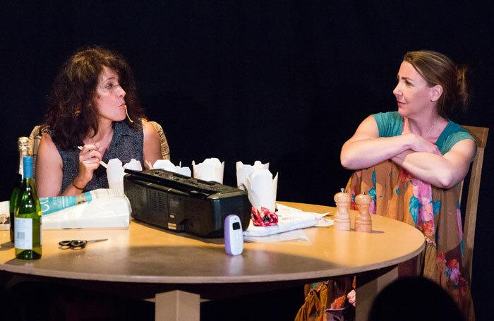Abigail Burdess and Kate Alderton in Kin at Underbelly Cowate, Edinburgh. Photo: Karla Gowlett