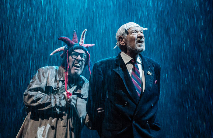 Lloyd Hutchinson and Ian McKellen in King Lear at the Duke of York's Theatre, London. Photo: Johan Persson