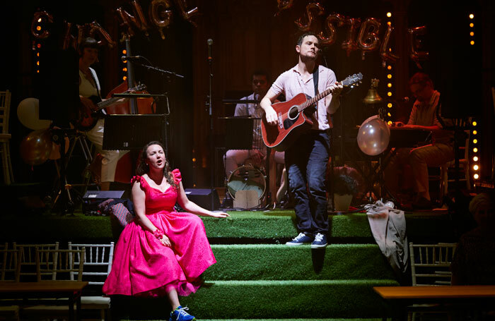 Sarah Higgins and Henry Pettigrew in Midsummer at the Hub, Edinburgh. Photo: Pete Dobbin