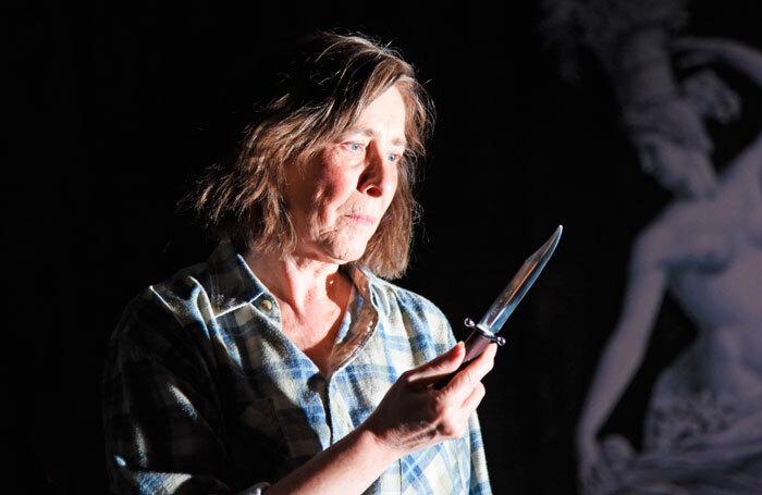 Phyllis Logan in Switzerland at Theatre Royal Bath's Ustinov Studio. Photo: Nobby Clark