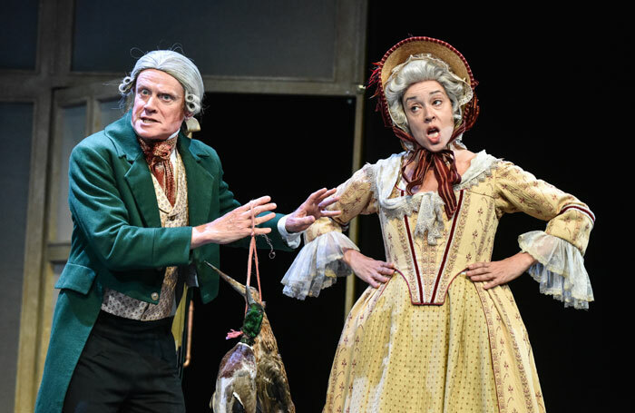 James Dukes and Christine Entwisle in Sense and Sensibility at Theatre by the Lake, Keswick. Photo: Robert Day