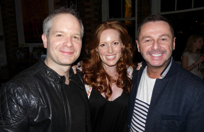 Stephen Mear (right) with Damian Humbley and Clare Foster