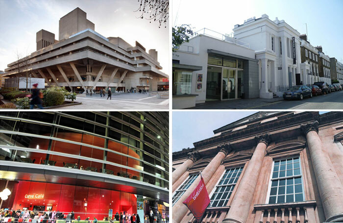 Organisations that have committed to getting back to every actor who auditions include, clockwise from top left, the National Theatre (photo: Philip Vile), the Almeida in London (photo: Philafrenzy/Wiki), Bristol Old Vic and Leicester's Curve