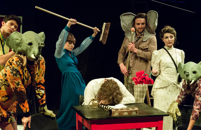 The cast of Elephant Steps. Photo: Alessia Chinazzo