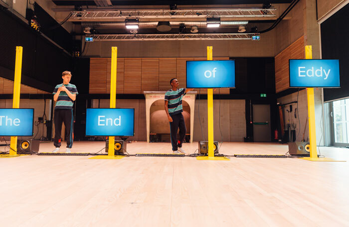 Alex Austin and Kwaku Mills in The End of Eddy at the Studio, Edinburgh. Photo: Ryan Buchanan