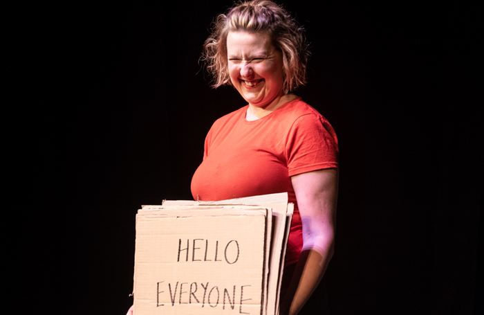 Victoria Firth in How to be Amazingly Happy! at Pleasance Courtyard. Photo: Nick Wesson