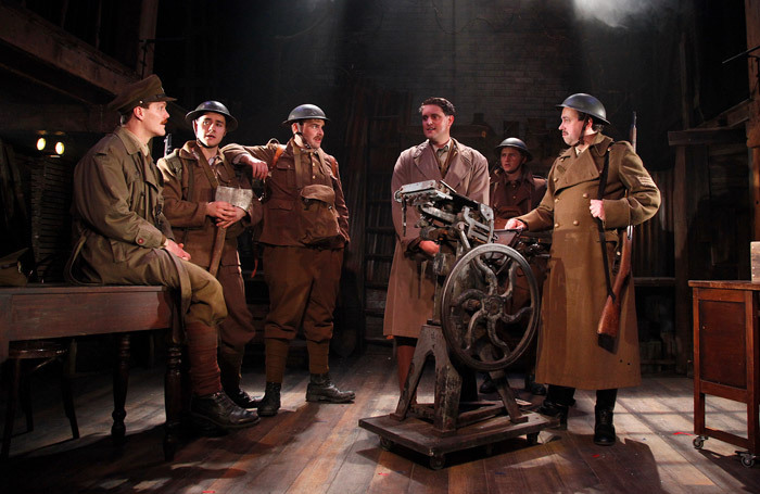 The cast of The Wipers Times at The Watermill Theatre. Photo: Philip Tull