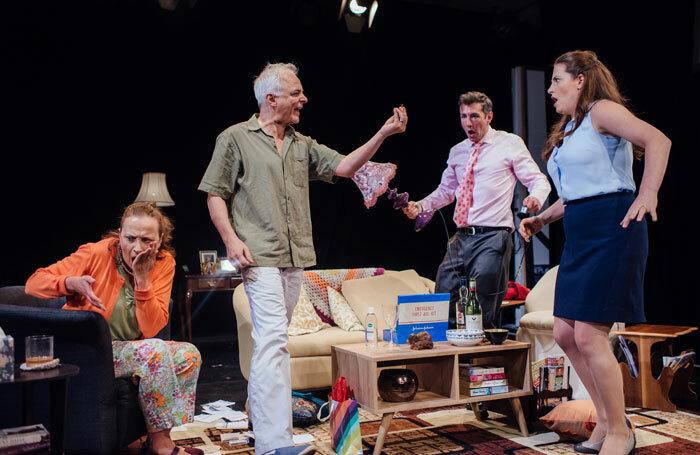 Pauline Goldsmith, David Calvitto, Oliver Tilney and Alex Sunderhaus in The House. Photo: David Monteith-Hodge