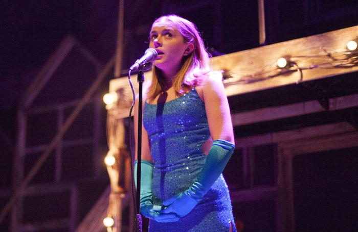 Rafaella Hutchinson in The Rise and Fall of Little Voice at Park Theatre. Photo: Scarlett Casciello