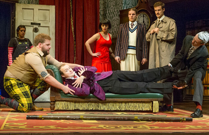 A scene from The Play That Goes Wrong. Photo: Alastair Miur