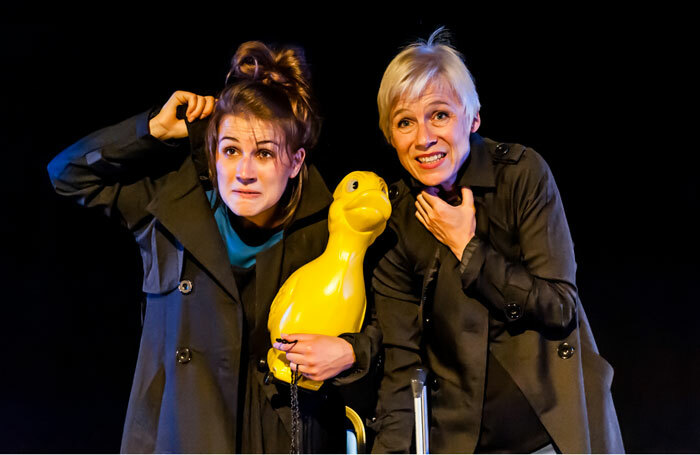 Josie Dale-Jones and Stefanie Mueller in Unconditional at Pleasance Courtyard, Edinburgh. Photo: Lidia Crisafulli