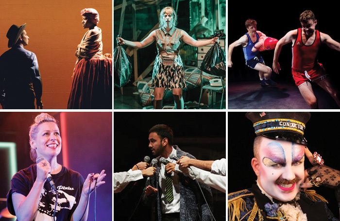 Clockwise from top left: Underground Railroad Game, The Basement Tapes, Square Go, Dandy Darkly's All Aboard!, Trojan Horse and What Girls Are Made Of. Photos: Ben Arons/Andi-Crown/Mihaela Bodlovic/Atticus Stevenson/The Other Richard/Sid Scott