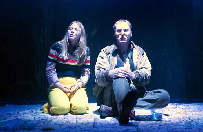 Charlotte Beaumont and Keith Dunphy in The Lovely Bones at Royal and Derngate, Northampton. Photo: Sheila Burnett