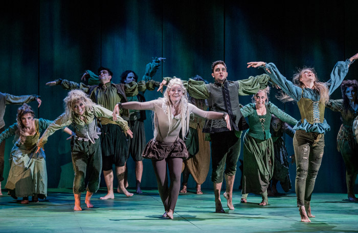 Iuno Connolly and company in The  Enchanted Island.  Photo: Robert  Workman
