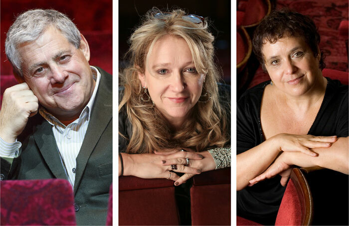 Producers Cameron Mackintosh (photo: Tolga Akmen), Sonia Friedman (photo: Jason Alden) and Nica Burns (photo: Justin Griffiths-Williams) have backed the #YesOrNo campaign