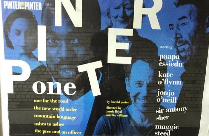 The poster at the Pinter. Photo: Mark Shenton