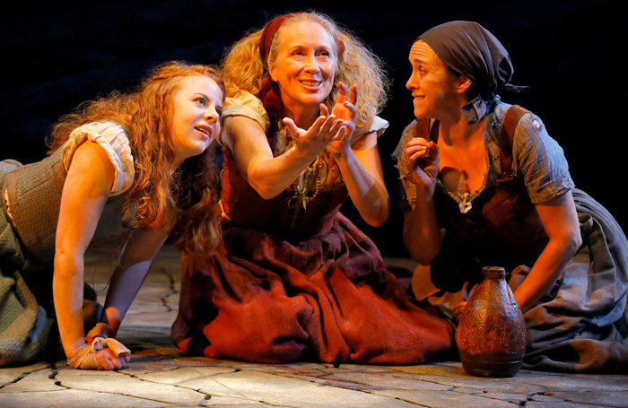 Fiona Wood, Deirdre Davis and Helen Logan in The Last Witch. Photo: Douglas McBride