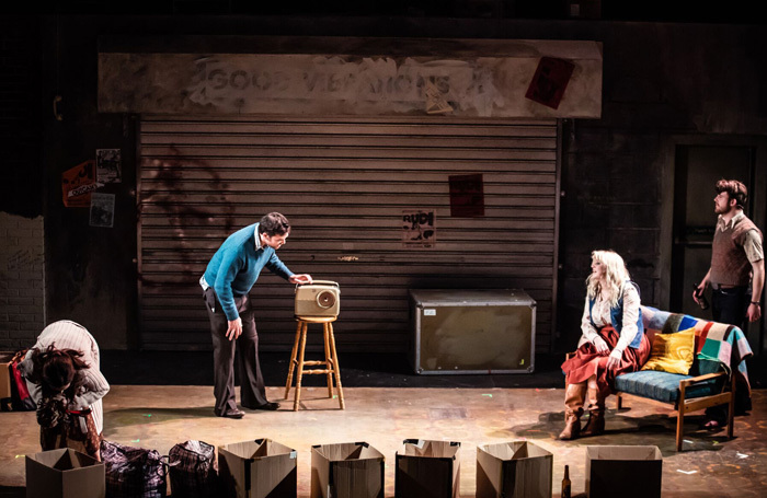 The sofa (far right) starring in Good Vibrations: Photo: Chris Heaney