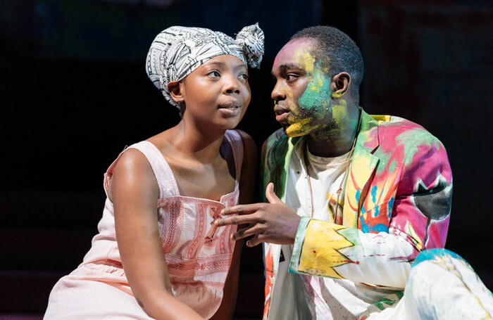 Mimi Ndiweni and Paapa Essiedu in the RSC's 2018 tour of Hamlet. Videos of Essiedu performing speeches from the play are available as part of the Shakespeare Learning Zone. Photo: Manuel Harlan