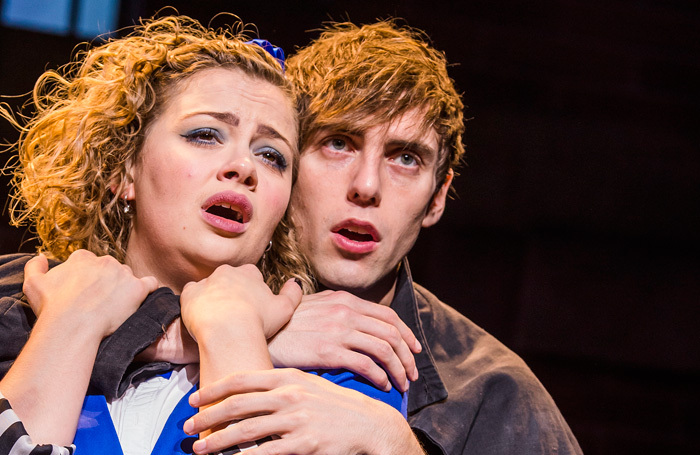 Jamie Muscato and Carrie Hope Fletcher in Heathers the Musical. Photo: Tristram Kenton