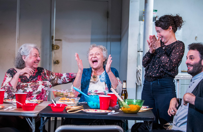 The cast of The Humans at Hampstead Theatre, London. Photo: Tristram Kenton