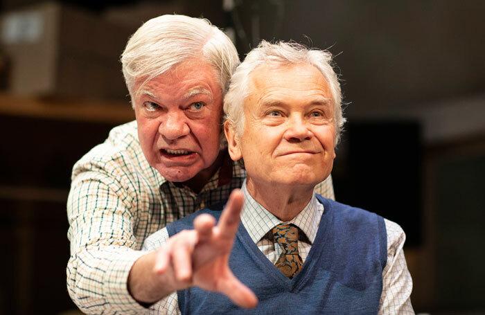 Matthew Kelly and David Yelland in The Habit of Art at Theatre Royal Brighton. Photo: Helen Maybanks