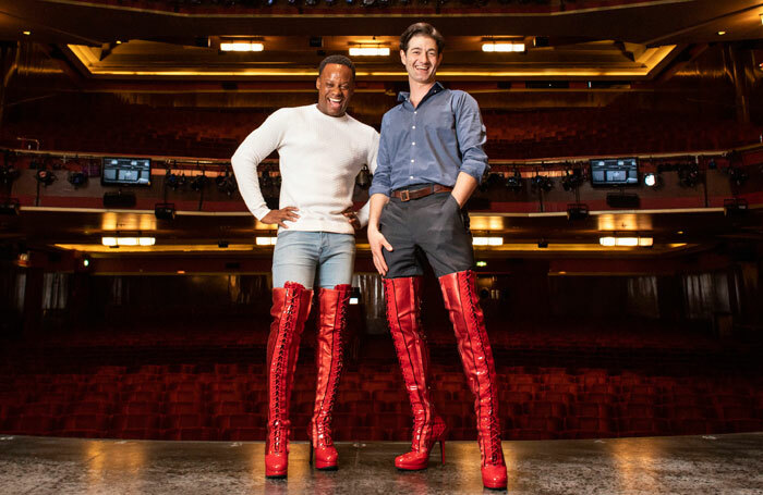 Simon-Anthony Rhoden and Oliver Tompsett from the cast of Kinky Boots. Photo: Helen Maybanks