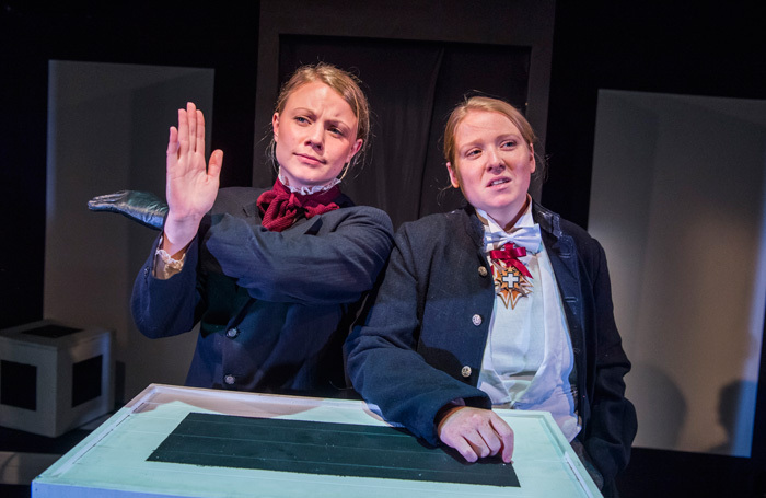 Amy Marchant and Letty Thomas in Square Rounds at Finborough Theatre, London. Photo: Tristram Kenton