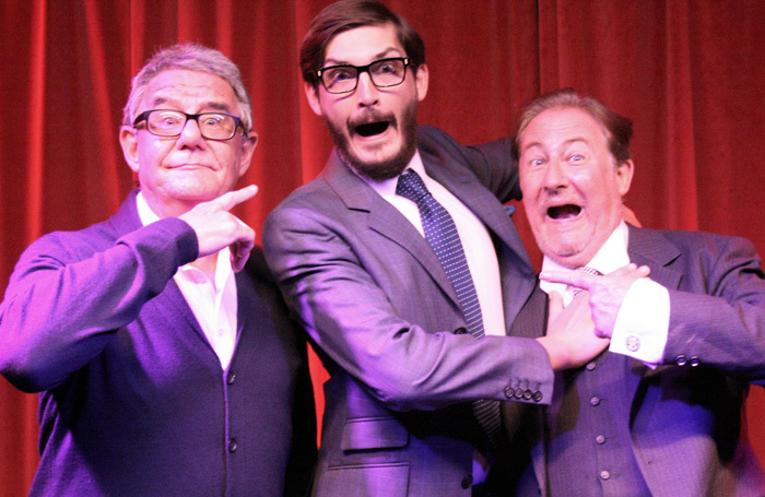 Julian McDowell, Colin Elmer and Clive Greenwood (above right), who play The Goons in a new touring show