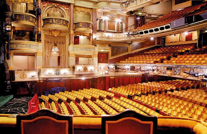 Theatre Royal, Drury Lane auditorium from the royal box. Photo: Peter Dazeley