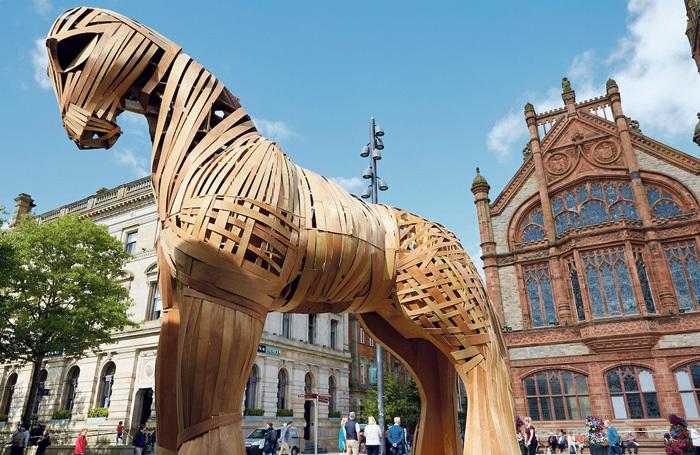 Trojan Horse in Derry. Photo: Matthew Andrews