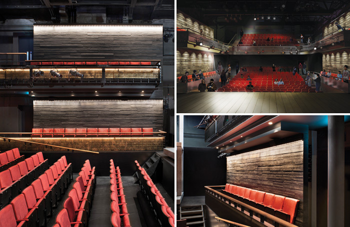 The new auditorium and artist's impression of the view from the stage (top right). Photos: Philip Vile/Chapman Waterworth