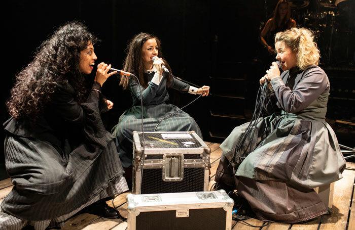 Siobhan Athwal, Molly Lynch and Natasha Barnes in Wasted. Photo: Helen Maybanks