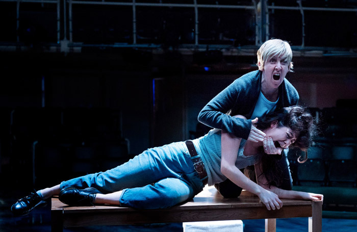 Julie Hesmondhalgh and Norah Lopez Holden in The Almighty Sometimes at Royal Exchange Theatre, Manchester. Photo: Manuel Harlan