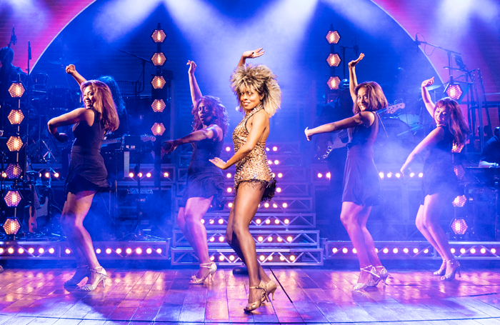 Adrienne Warren (centre) in Tina: The Tina Turner Musical, one of many recent shows based on the life of a performers or songwriter. Photo: Manuel Harlan