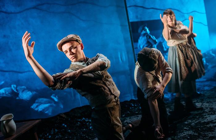 The cast of Scotties at the Traverse Theatre, Edinburgh. Photo: Mihaela Bodlovic