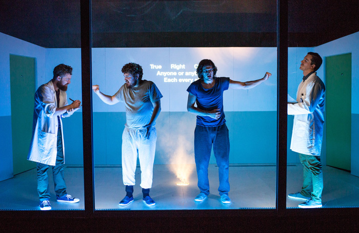 The cast of 4.48 Psychosis at New Diorama, London. Photo: Becky Bailey
