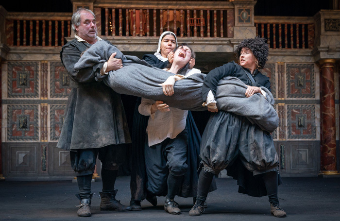 The cast of Eyam at Shakespeare's Globe, London. Photo: Marc Brenner