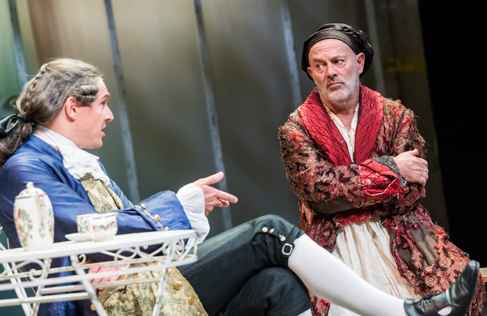 Mark Umbers and Keith Allen in The Taste Of The Town from Hogarth's Progress. Photo: Tristram Kenton