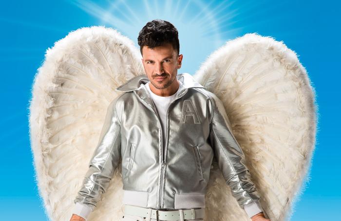 Peter Andre as Teen Angel in Grease. Photo: Hugo Glendinning