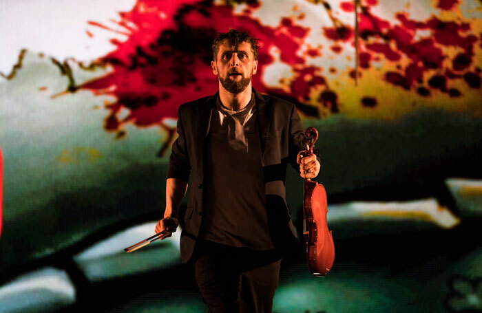 Aaron Monaghan in The Second Violinist. Photo: Patrick Redmond