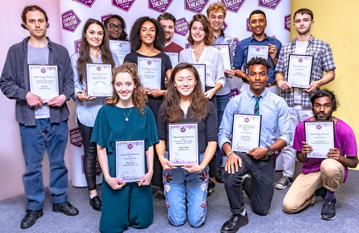 Some of the Laurence Olivier Bursary winners 2018 at the ceremony