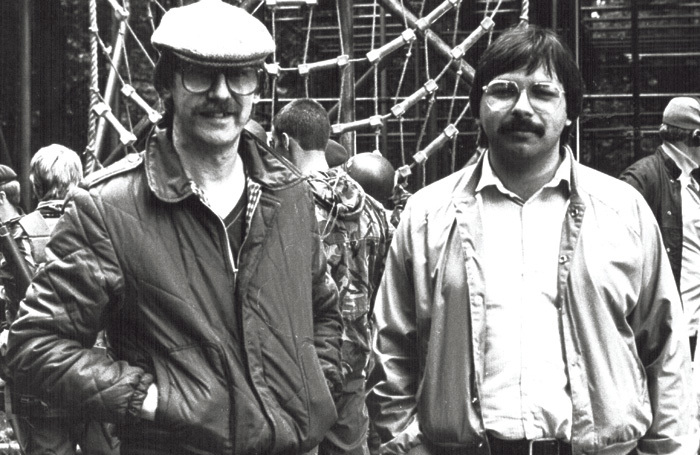 Laurence Marks (left) with co-writer Maurice Gran