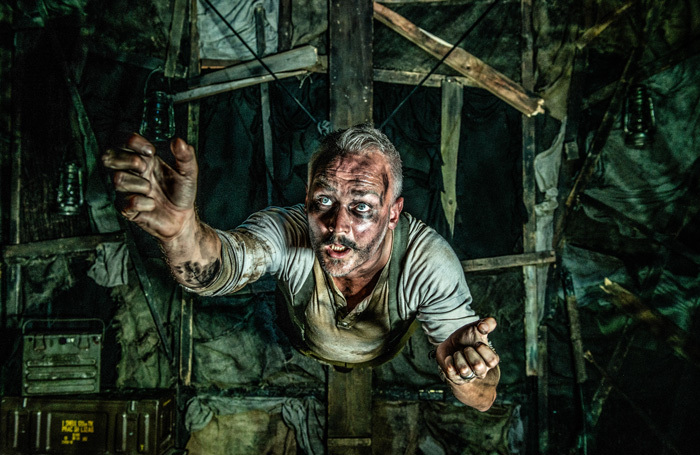Oliver Lansley in The Trench at Southwark Playhouse, London. Photo: Rah Petherbridge